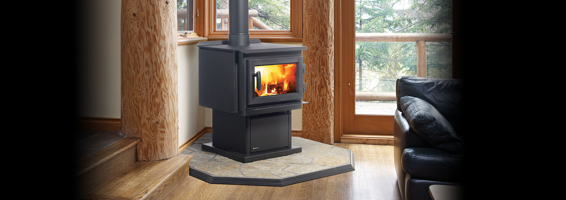 regency wood free standing country fireplace